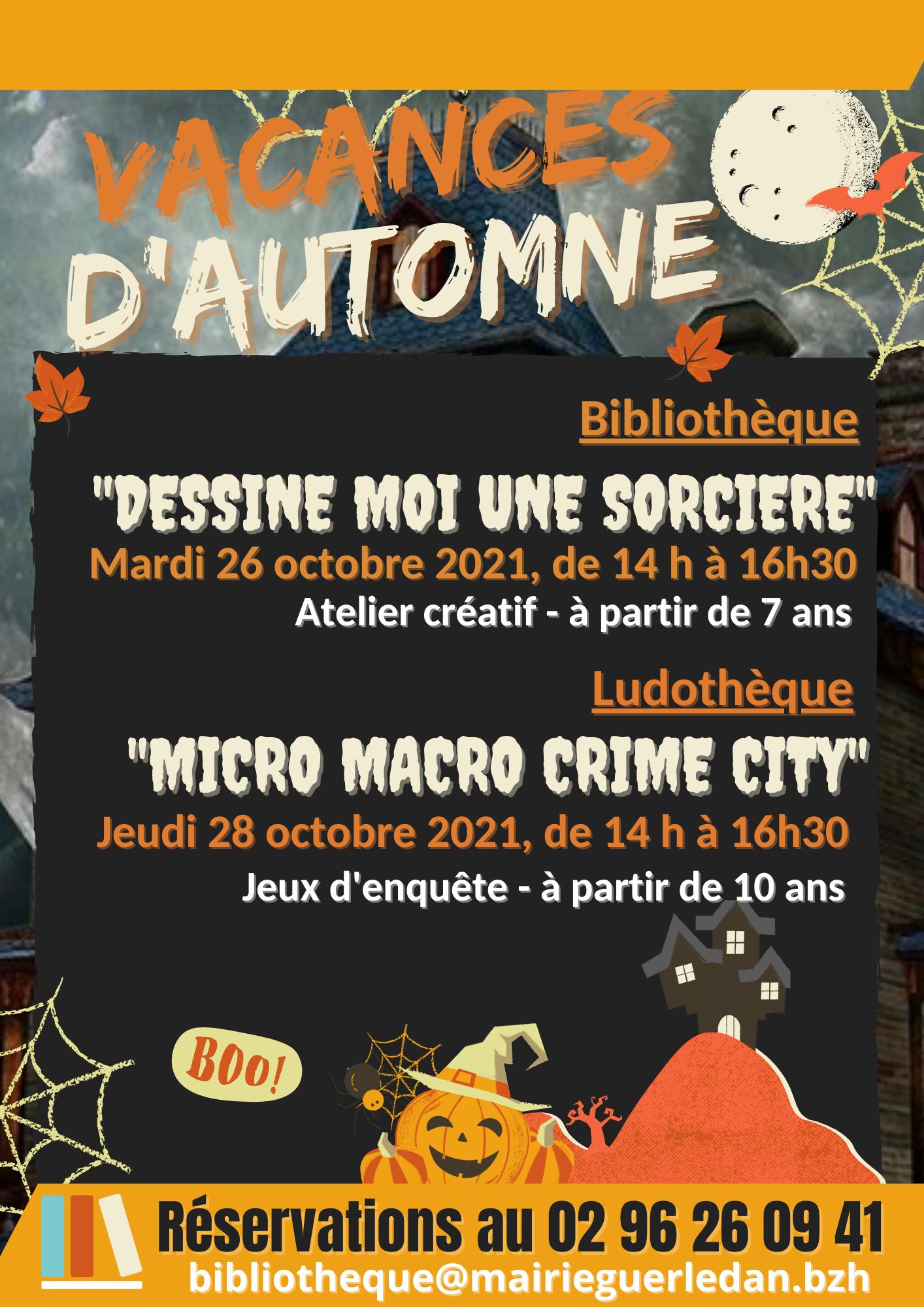 Dessine moi une sorcière - Bibliothèque Espace Alain AUFFRET